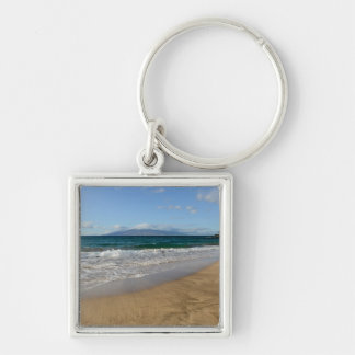 Tropical Beach in Maui Hawaii Key Ring