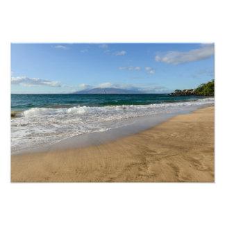 Tropical Beach in Maui Hawaii Photo Print