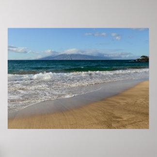 Tropical Beach in Maui Hawaii Poster
