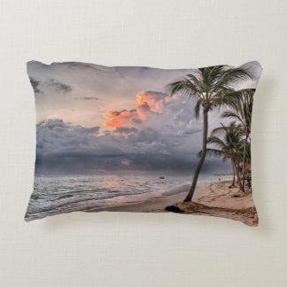 Tropical beach in the Caribbean Decorative Cushion