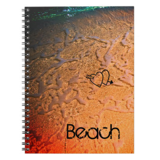 Tropical Beach Lovers Spiral Notebook