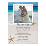 Tropical Beach Marriage Announcement With Photo