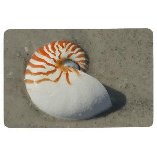 Tropical Beach Nautilus Seashell Floor Mat