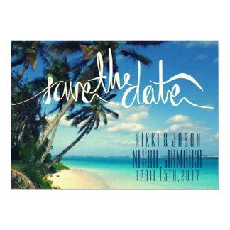 Tropical Beach Negril, Jamaica Save the Date 13 Cm X 18 Cm Invitation Card