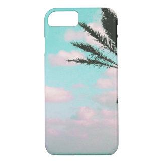 Tropical Beach, Ocean View, Pink Clouds, Palm iPhone 8/7 Case