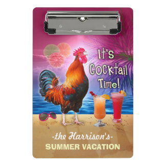 Tropical Beach or Cruise Vacation   Funny Rooster