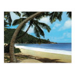Tropical beach painting post cards