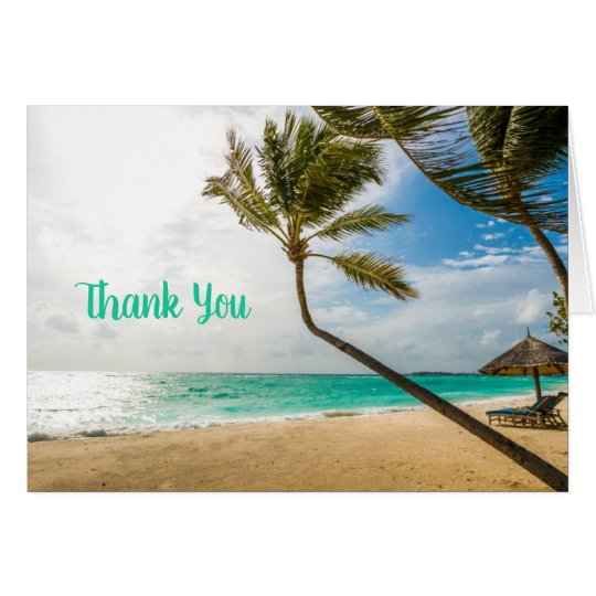 Tropical Beach Palm Trees All Occasion Note Card