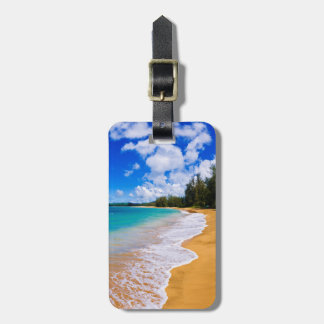 Tropical beach paradise, Hawaii Luggage Tag