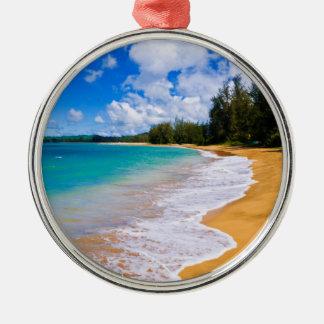 Tropical beach paradise, Hawaii Metal Ornament