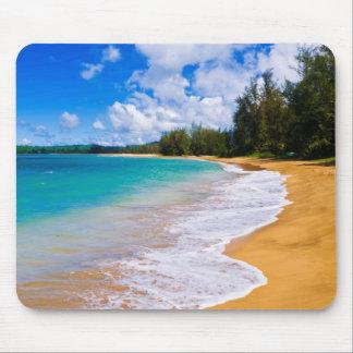 Tropical beach paradise, Hawaii Mouse Pad