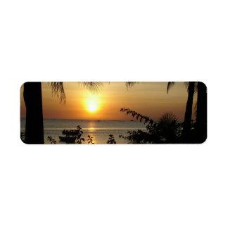 Tropical Beach Paradise Return Address Label