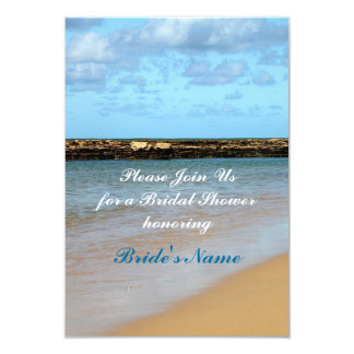 Tropical Beach Paradise Wedding Bridal Shower 3.5x5 Paper Invitation Card