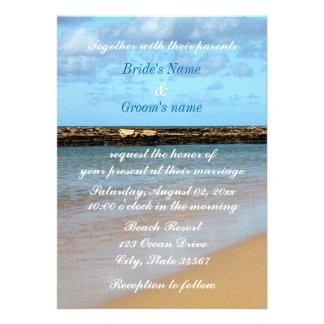 Tropical Beach Paradise Wedding Invitation