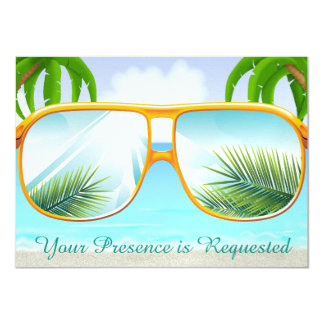 Tropical, Beach,  Party 11 Cm X 16 Cm Invitation Card