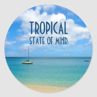 Tropical Beach Photo Paradise Classic Round Sticker