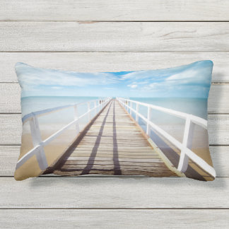 Tropical Beach Pier Outdoor Cushion