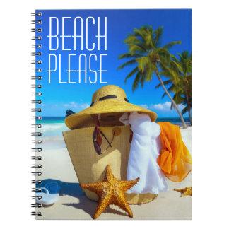 Tropical Beach Please Scene  Notebook