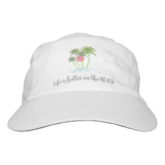 Tropical Beach Quote Summer Vacation White Hat