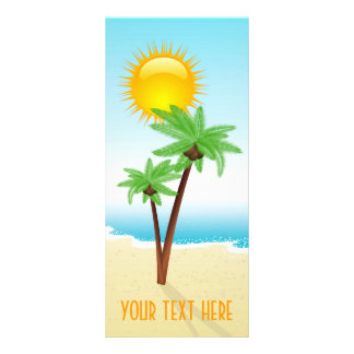 Tropical Beach Rack Card