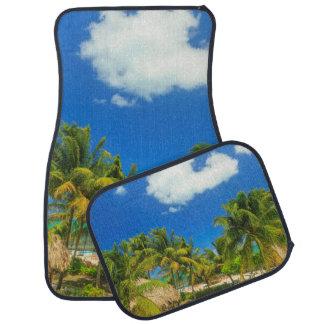 Tropical beach resort, Belize Car Mat