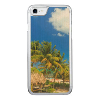 Tropical beach resort, Belize Carved iPhone 7 Case