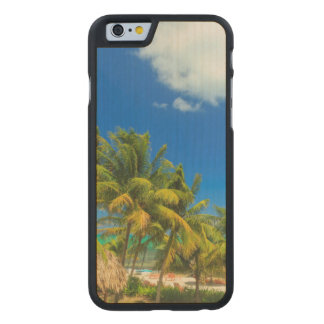 Tropical beach resort, Belize Carved® Maple iPhone 6 Case