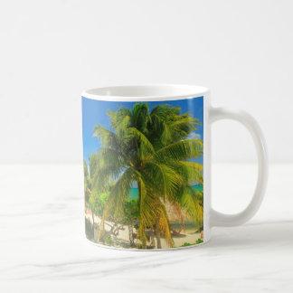 Tropical beach resort, Belize Coffee Mug