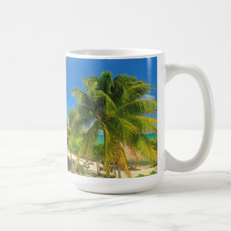 Tropical beach resort, Belize Coffee Mug