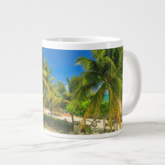 Tropical beach resort, Belize Giant Coffee Mug