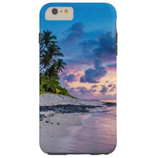 Tropical Beach Romantic Sunrise Tough iPhone 6 Plus Case