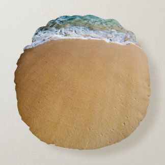 Tropical Beach Round Cushion