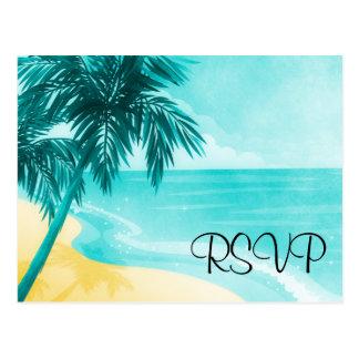 Tropical Beach RSVP Postcard