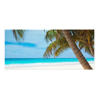 Tropical beach sand and ocean custom name bookmark custom rack cards