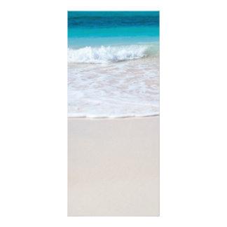 Tropical beach sand and ocean custom name bookmark personalized rack card