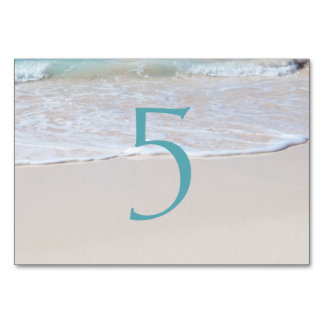 Tropical Beach Sand Table Number Cards