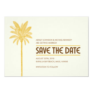 Tropical Beach Save The Date Cards