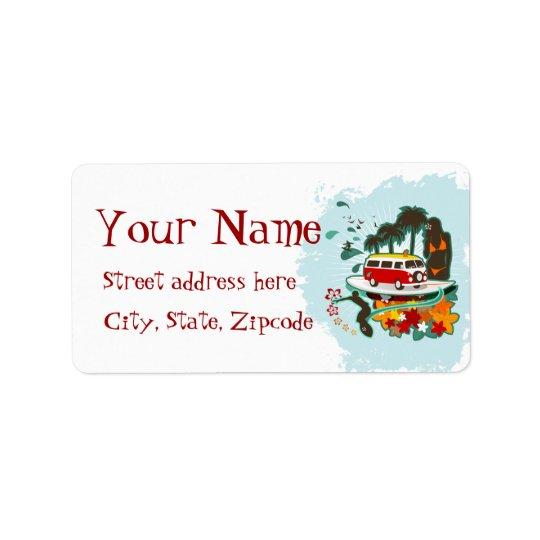 Tropical Beach Scene Address Label