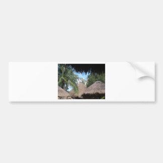 Tropical Beach Scene Bumper Sticker