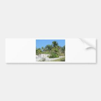 Tropical Beach Scene Bumper Stickers