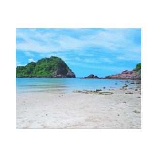 Tropical Beach Scene Thailand Canvas Print