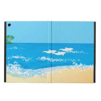 Tropical Beach Scenic Dolphin Design iPad Air Cases