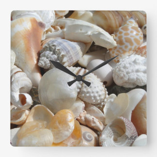 Tropical Beach Shells Photography Wall Clock