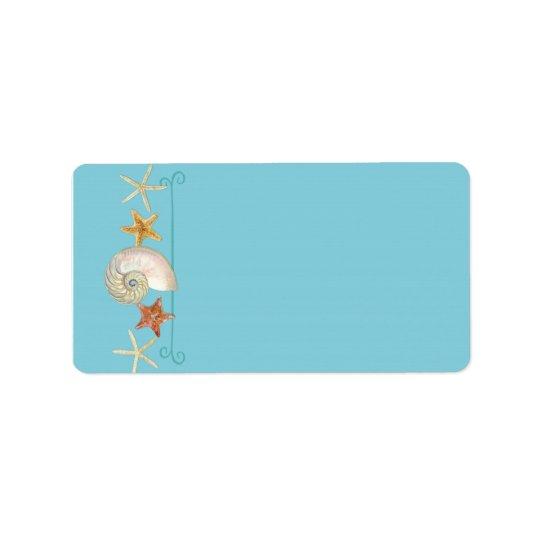 Tropical Beach Shells Starfish Nautilus Summer Address Label