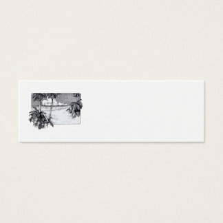 Tropical Beach South Wind Vintage Art Mini Business Card