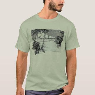 Tropical Beach South Wind Vintage Art T-Shirt