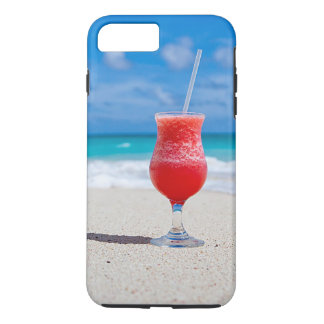 Tropical Beach Summer Red Strawberry Margarita iPhone 7 Plus Case