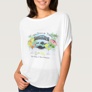 Tropical Beach, Summer Vacation | Personalized T-Shirt