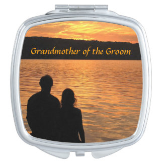 Tropical Beach Sunset Grandmother of the Groom Travel Mirrors