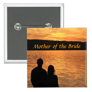 Tropical Beach Sunset Mother of the Bride Pin